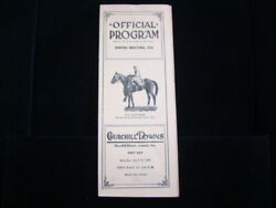 1941 Churchill Downs Official Program Spring Meeting Saturday April 26 1st Day