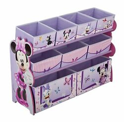 Delta Children Deluxe 9 Bin Toy Storage Organizer Disney Minnie Mouse