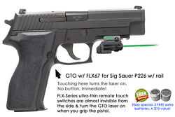 Armalaser Gto For Sig Sauer P226 W/ Rail - Green Laser Sight W/ Flx67 Grip Touch