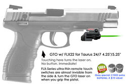 Armalaser Gto For Taurus 24/7 4.25 / 5.25 Green Laser Sight W/ Flx22 Grip Touch