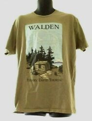 Walden Henry David Thoreau T Shirt Green Size XL $16.00
