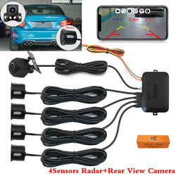 Night Vision Rear View Camera Car Parking Assistance 4 Sensors Wireless Wifi