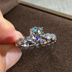Shine Women 925 Silver Wedding Rings White Sapphire Jewelry Size 6 10 $2.18