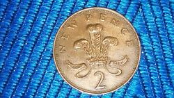 Very Rare 1971 New Pence 2p British Coin First Release