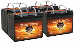 Qty4 Vmax V35-857 Agm Scooter U1 12v 35ah Batteries For Electric Mobility