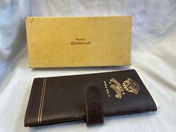 Vtg Wwii Honorable Discharge Leather Paper Holder F.o.e W/ Box And Discharge Paper