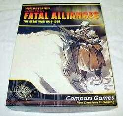 Compass Games Fatal Alliances - The Great War - World In Flame Game Unpunched