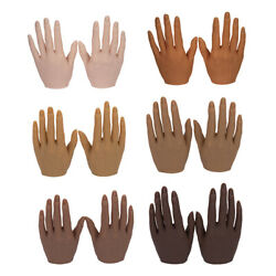 Silicone Nail Practice Hands 11 Mannequin Female Model Display 1 Pair