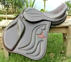 Genuine Leather English Jumping Horse Saddle And Tack Size 18 Inch