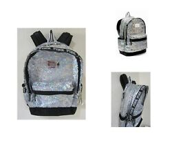 BLING Victoria Secret Pink IRIDESCENT RAINBOW SEQUIN CARRY ON BACKPACK BOOK BAG