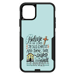 Otterbox Commuter For Apple Iphone Pick Model Acts 1631 Believe Jesus Christ