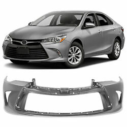 Primed Front Bumper Cover Fascia For 2015 2016 2017 Toyota Camry 5211907912