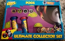 Pogs Retro Kaps Ultimate 2 Tubes And 1 Deluxe Mat Collector Set Game