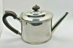 And Co. Sterling Silver Coffee Or Tea Pot Wooden Handle Gently Used