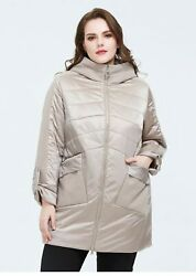Casual Spring Coat Jacket Womenand039s Woven With Hood Mid-length Outerwear Clothings