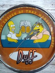 The Simpsons Wall Clock Duff Can't Get Enough Of That Wonderful Duff Tested