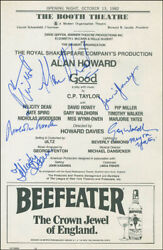 Good Play Cast - Show Bill Signed With Co-signers