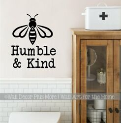 Bee Wall Decor Sticker Be Humble And Kind Quote Vinyl Decal Art School Decoration