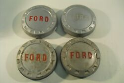 1960and039s Ford F250 Pickup Truck Poverty Bottlecap Dog Dish Hub Caps Wheel Covers