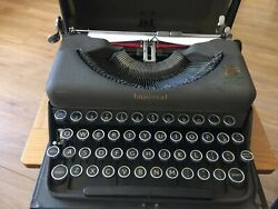 Vintage 1935 Portable Imperial Typewriter Andlsquothe Good Companionandrsquo Royal Stamp