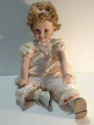 Danbury Mint Little Miss Shirley Temple Toddler Porcelain Doll Collection In Box