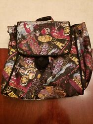 Nicole Miller 100% Silk Drawstring Backpack. French theme. New without tags. $30.00