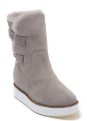 Australia Luxe Collective Women Fur Lined Boot Bushmill Size 9us Opal Suede