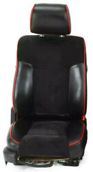 2009-2012 Ford F-150 Super Crew Xlt Katzkin Black Leather Seats Red Piping Suede