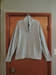 Sag Harbor Woman Gray Silver Long Sleeve Cowl Neck Sweater Size 3x