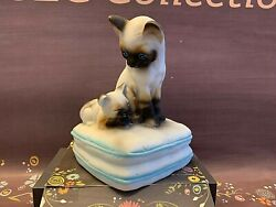 Siamese Cats Collectible Music Box By Mann Japan You Light Up My Life