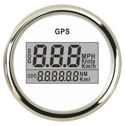 1pc 52mm White Gps Odometers 0-999knots Mph Or Km/h Speedometers Red Backlight