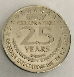 Tdw Tire Dealers Warehouse 25 Years Advertising Token Coin Medal