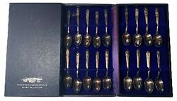 American President Commemorative Spoon Collection 37 Pieces Wm Rogers Is