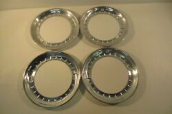 14 Beauty Rings Hubcaps 1940and039s 1950and039s Chevy Ford Buick Chrysler Mopar Accessory