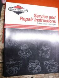 1992 Briggs And Stratton 4 Cycle Single Cylinder Engine Factory Repair Manual