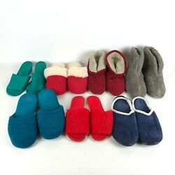 Lot Of 7 Women's Slippers Various Brands And Styles Large Fits Sizes 8-10