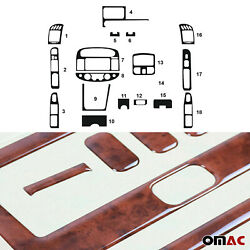 Fits Toyota Camry 2002-2006 Wooden Look Dashboard Console Trim Kit 18 Pcs