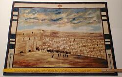 JUDAICA ✡ Israel WESTERN WALL X Large Tapestry Wall Hanging