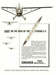 Sensich Bros. Right On The Nose Of The Stinson L-5 Aircraft Propeller Poster A