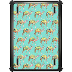 Otterbox Defender For Ipad Pro / Air / Mini - Preppy Camels On Teal Background