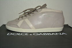 Nib Dolce And Gabbana Mens Vintage Leather Sneakers Sz Us 10 Eu 43 Italy
