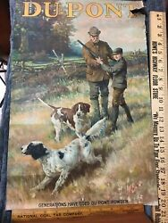 Rare Early Dupont Powder 1900s Calendar Antique Old Gun Hunting The Lesson