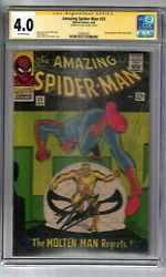 Amazing Spider-man 35 Signed By Stan Lee Cgc Ss Graded 4.0 Marvel Comic Book