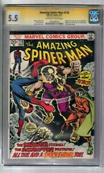 Amazing Spider-man 118 Signed By Stan Lee Cgc Ss Graded 5.5 Marvel Comic Book