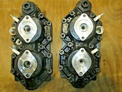 Johnson Evinrude Cylinder Head Set V4 Ficht Pinned Early 346893 346892 Casting