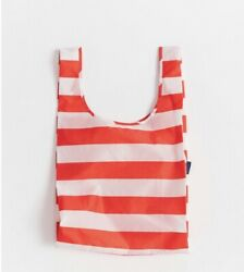 Baggu Red Stripe Standard Size Reusable Bag - Nwt - Discontinued Pattern