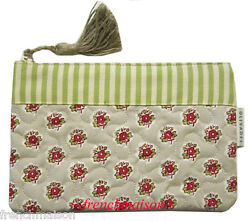 Les Olivades French-made Country Provence Floral Quilted Purse/wallet Tassel Zip