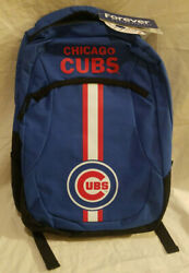 Mlb Chicago Cubs Logo Action Backpack Travel Work School Forever Collectibles