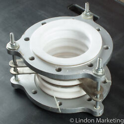 6 Teflon / Ptfe 5-convolute Expansion Joint W/ Stainless Guards, New Old Stock