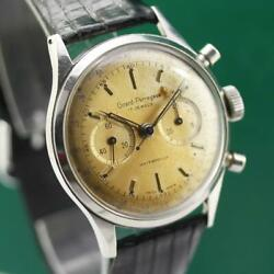 Girard Perregaux Stainless Steel 37mm Manual Wind Chronograph Menand039s Watch